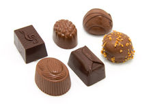 Chocolate bonbons Stock Photos