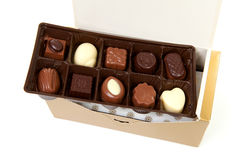 Chocolate bonbons in box Royalty Free Stock Photography