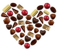 Chocolate bonbons heart Stock Photography