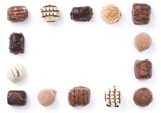 Chocolate border Royalty Free Stock Images