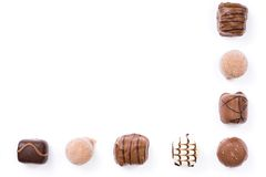 Chocolate border Stock Images