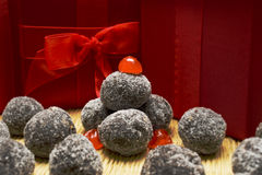 Chocolate Bourbon Balls Stock Photo