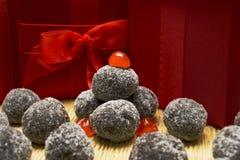 Chocolate Bourbon Balls Stock Photo