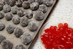 Chocolate Bourbon Balls Royalty Free Stock Photo