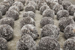 Chocolate Bourbon Balls Royalty Free Stock Images