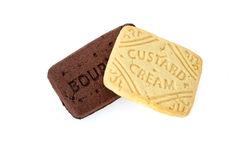 Chocolate bourbon biscuits and custard creams Stock Photo