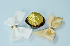 Chocolate and bow tie Royalty Free Stock Images