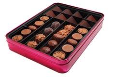 Chocolate box. Isolated on white Stock Image