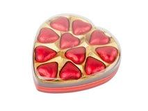 Chocolate Box. Isolated on white background Royalty Free Stock Images