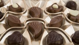 Chocolate box. Full of tasty candies Royalty Free Stock Images