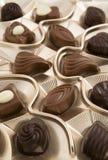 Chocolate box. Full of tasty candies Stock Photo