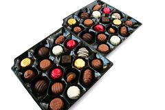 Chocolate in box Royalty Free Stock Photos