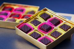 Chocolate in Box Royalty Free Stock Image
