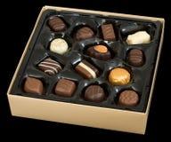 Chocolate box. Isolated on black Stock Photography