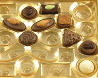 Chocolate box. Royalty Free Stock Photo