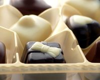 Chocolate in box Royalty Free Stock Photography