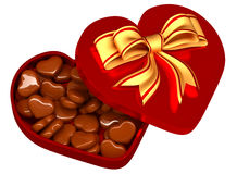 Chocolate in a box as a gift for Valentine's Day Stock Photos