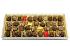 Chocolate box. Isolated on white background Stock Images