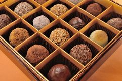Chocolate in box Royalty Free Stock Images