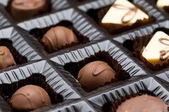 Chocolate Box Sampler. Close up Royalty Free Stock Photo