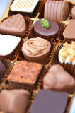 Chocolate in the box Stock Photography