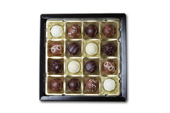 Chocolate box  on white Stock Photo