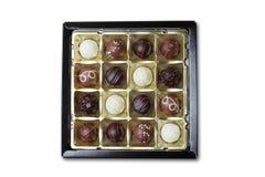 Chocolate box  on white Stock Photo
