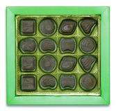Chocolate box. On white Stock Images