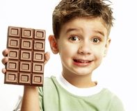 Chocolate boy. Royalty Free Stock Images