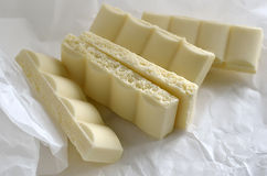 Chocolate branco Imagens de Stock Royalty Free