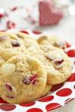 Chocolate branco Chip Cranberry Cookies imagem de stock royalty free