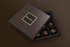 Chocolate branding Stock Image