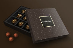Chocolate branding Stock Images