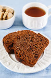 Chocolate bread with chocolate chips Royalty Free Stock Photo