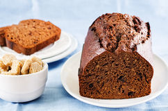 Chocolate bread with chocolate chips Royalty Free Stock Photography