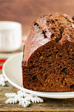 Chocolate bread with chocolate chips Royalty Free Stock Photos