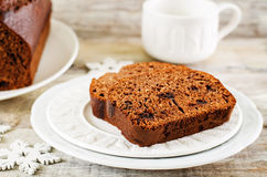 Chocolate bread with chocolate chips Royalty Free Stock Images