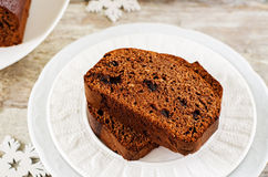 Chocolate bread with chocolate chips Stock Image