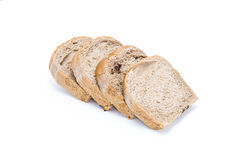 Chocolate bread isolaed on white background. Chocolate bread isolated on white background Royalty Free Stock Photo