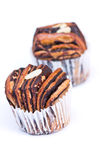 Chocolate bread muffin Stock Image