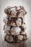 Chocolate break cookies Stock Photo