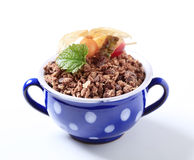 Chocolate breakfast cereal Royalty Free Stock Photography