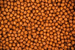 Chocolate Breakfast Cereal Texture. Cereal Balls As Background. Royalty Free Stock Photos
