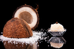 Chocolate - brigadier of coconut Stock Images