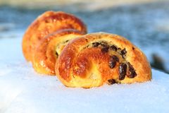 Chocolate brioches Stock Image