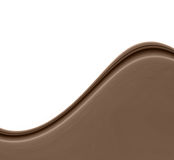 Chocolate Brown Wave stock image
