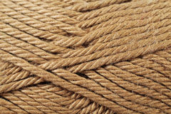Chocolate Brown Yarn Texture Close Up Royalty Free Stock Photography