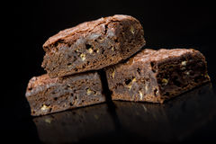 Chocolate brownie. Slice of fresh chocolate brownie desert snack royalty free stock images