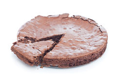 Chocolate brownie cake Royalty Free Stock Photo