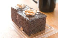Chocolate Brownie Cake Imágenes de archivo libres de regalías